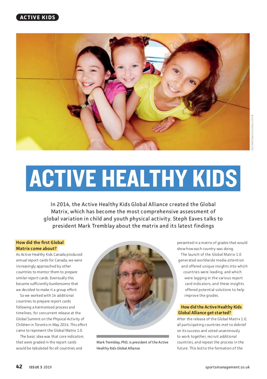 Brilliant Active Healthy Kids Global Alliance Chair Interviewed By Gmtry Best Dining Table And Chair Ideas Images Gmtryco